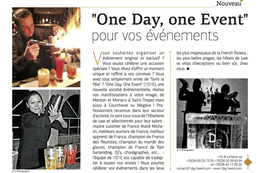 Article Monaco Madame | 1day1event